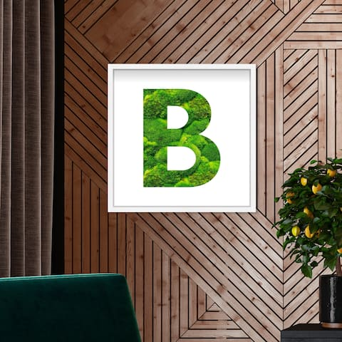 Oliver Gal' The Letter B Nature' Alphabet Letters Live Moss Art
