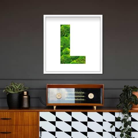 Oliver Gal' The Letter L Nature' Alphabet Letters Live Moss Art