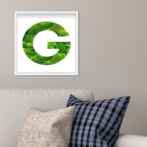 Oliver Gal' The Letter G Nature' Alphabet Letters Live Moss Art