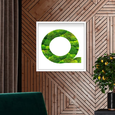 Oliver Gal' The Letter Q Nature' Alphabet Letters Live Moss Art