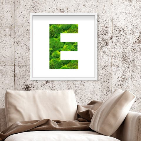 Oliver Gal' The Letter E Nature' Alphabet Letters Live Moss Art