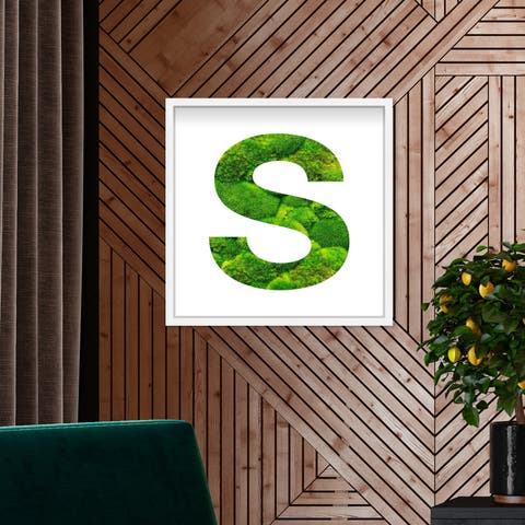 Oliver Gal' The Letter S Nature' Alphabet Letters Live Moss Art