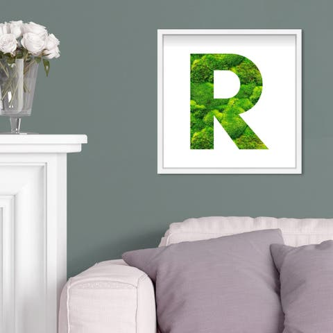 Oliver Gal' The Letter R Nature' Alphabet Letters Live Moss Art