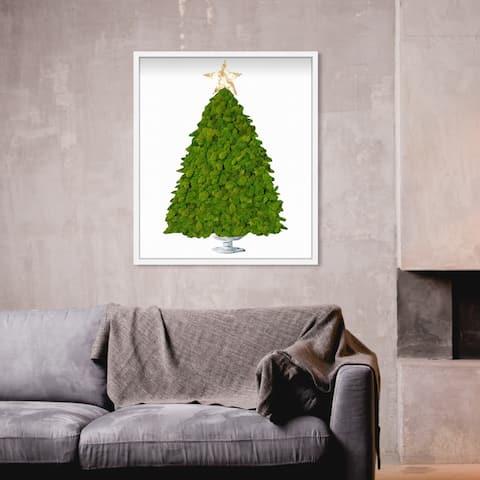 Oliver Gal' Moss Christmas Tree' Holiday and Seasonal Live Art - 24 x 28