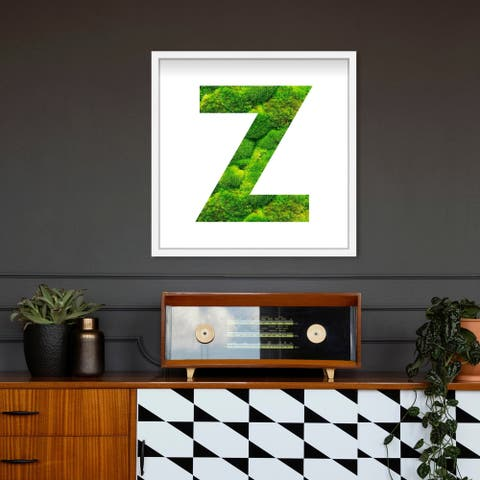 Oliver Gal' The Letter Z Nature' Alphabet Letters Live Moss Art