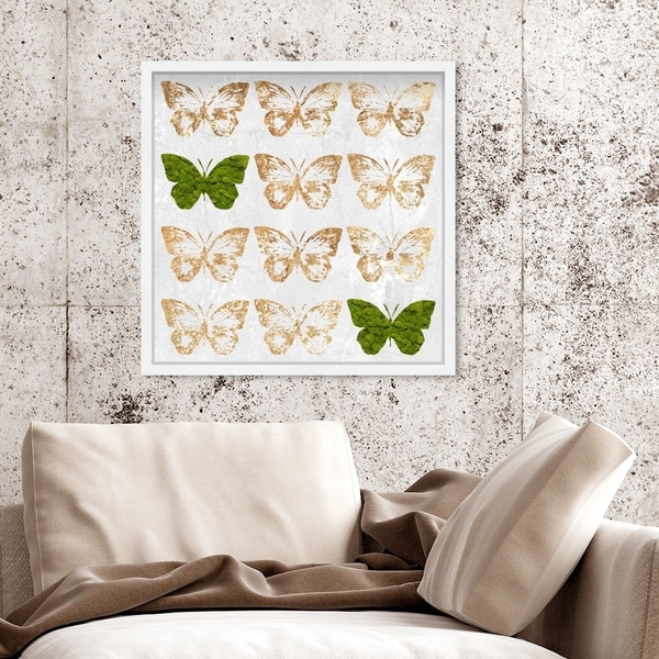 Oliver Gal' Moss Happy Wings' Butterfly Live Art