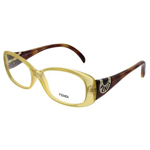 Fendi FE 846 832 53mm Womens Transparent Gold Frame Eyeglasses 53mm
