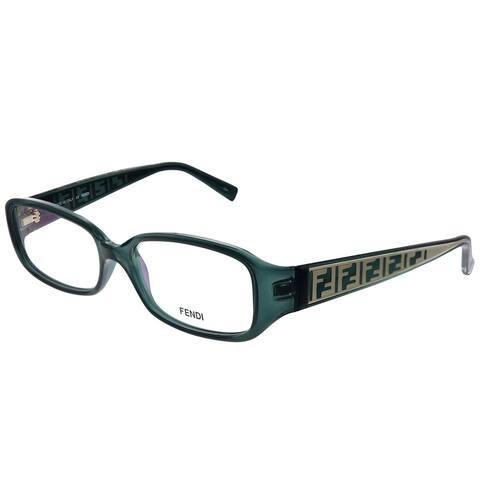 Fendi FE 983 316 53mm Womens Transparent Green Frame Eyeglasses 53mm