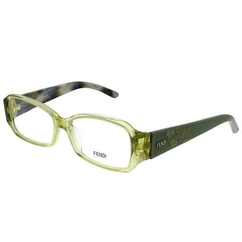 Fendi FE 924 318 52mm Womens Transparent Green Frame Eyeglasses 52mm