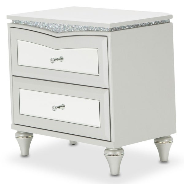 Melrose Plaza Dove Upholstered Nightstand