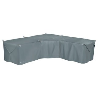Link to Classic Accessories Storigami Water-Resistant 100 Inch Easy Fold Patio V-Shaped Sectional Lounge Set Cover,Monument Grey Similar Items in Patio Furniture