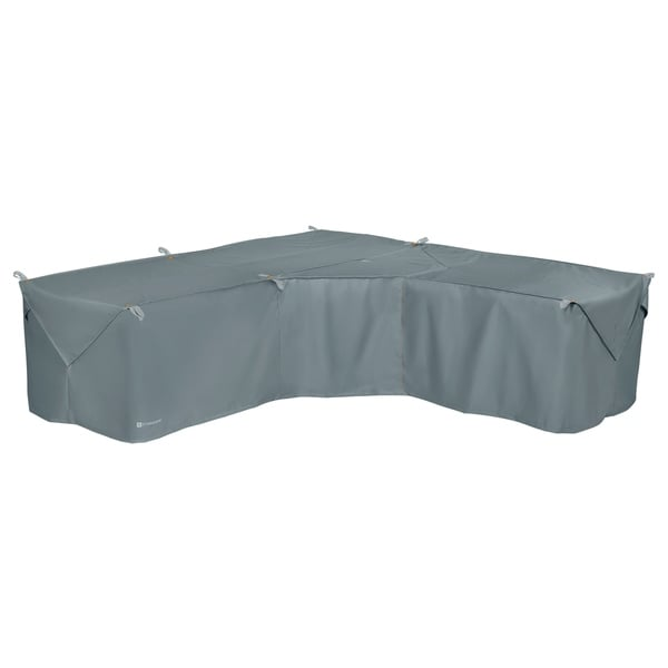 Classic Accessories Storigami Water-Resistant 100 Inch Easy Fold Patio V-Shaped Sectional Lounge Set Cover,Monument Grey. Opens flyout.