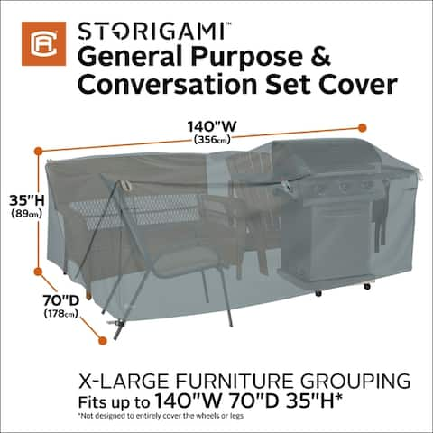 Classic Accessories Storigami General Purpose Patio Furniture Cover