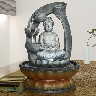 Buddha Fountain - 11in Buddha Tabletop Water Fountain for Home&Office