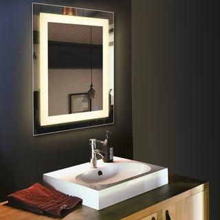 "CO-Z 30"" x 24"" Wall Mounted Dimmable LED Bathroom / Vanity Mirror"