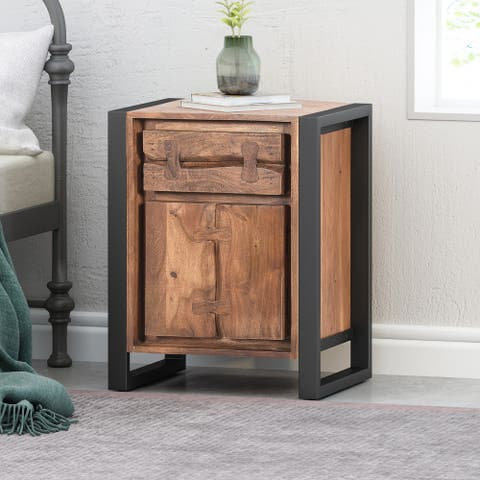 Guetlet Boho Handcrafted Acacia Wood Cabinet by Christopher Knight Home