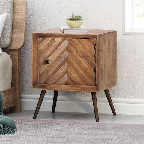 Harrington Mid-Century Modern Mango Wood Cabinet by Christopher Knight Home