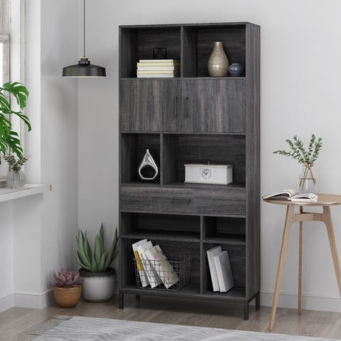 Fuller Contemporary Faux Wood Cube Unit Bookcase by Christopher Knight Home