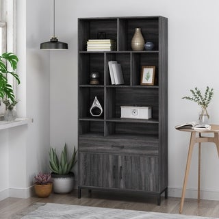 Link to Gallatin Contemporary Faux Wood Cube Unit Bookcase by Christopher Knight Home Similar Items in Living Room Furniture