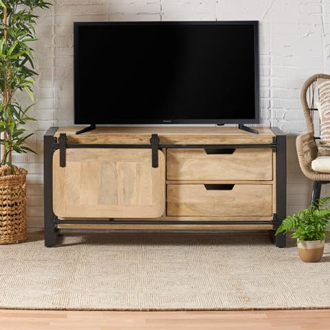 Gorman Boho Mango Wood TV Stand by Christopher Knight Home