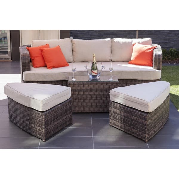 Terrific Shop La Mesa Outdoor 4 Piece Patio Wicker Daybed Sectional Pdpeps Interior Chair Design Pdpepsorg