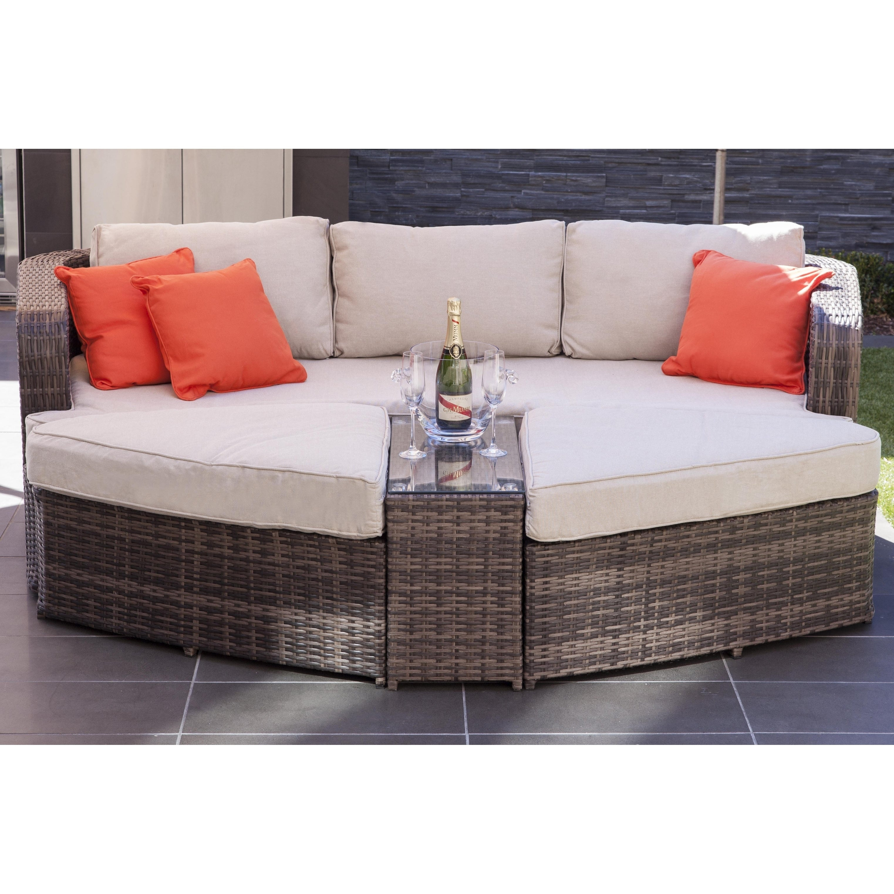 Astounding La Mesa Outdoor 4 Piece Patio Wicker Daybed Sectional Sofa Set By Direct Wicker Pdpeps Interior Chair Design Pdpepsorg