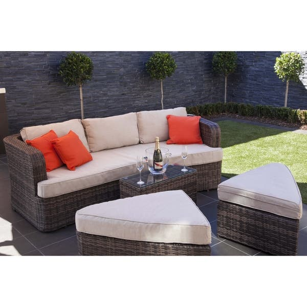 Cool Shop La Mesa Outdoor 4 Piece Patio Wicker Daybed Sectional Pdpeps Interior Chair Design Pdpepsorg