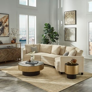 Andras Ivory Fabric Sectional by iNSPIRE Q Classic