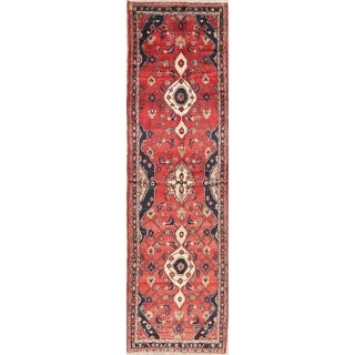 """Vintage Oriental Hand Knotted Carpet Malayer Persian Wool Rug - 11'11"""" X 3'5"""" Runner"""