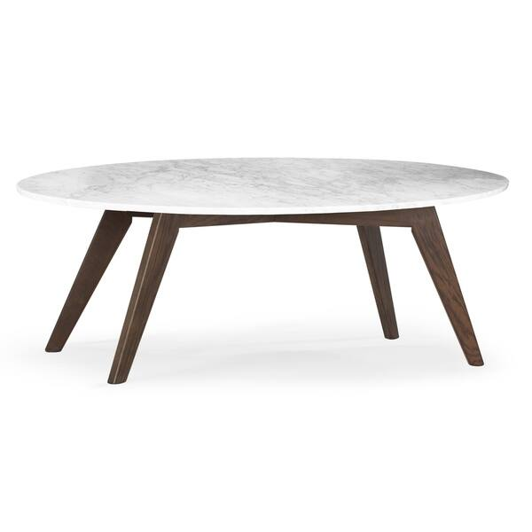 Brilliant Shop Riley Marble Oval Coffee Table On Sale Free Machost Co Dining Chair Design Ideas Machostcouk