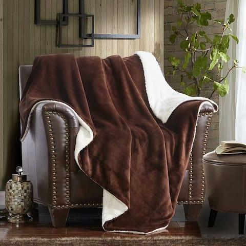 Merrylife Sherpa Throw Blanket Plush Fleece Couch Blankets