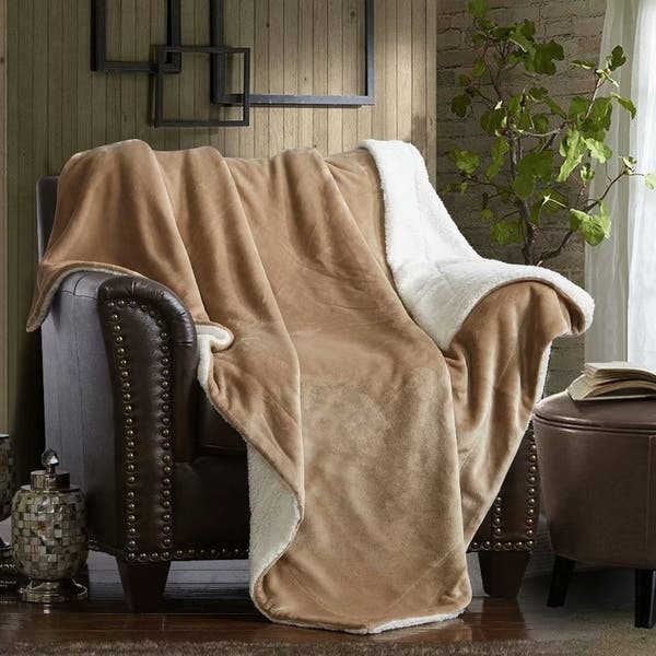 Sensational Shop Merrylife Sherpa Throw Blanket Plush Fleece Couch Cjindustries Chair Design For Home Cjindustriesco