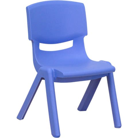 Offex Blue Plastic Stackable School Chair with 10.5'' Seat Height