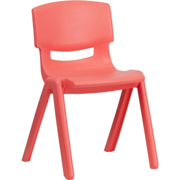 Offex Red Plastic Stackable School Chair with 13.25'' Seat Height