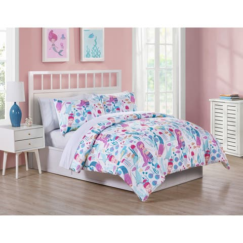 VCNY Home Ocean Dreamer Mermaid Bed-in-a-Bag Comforter Set