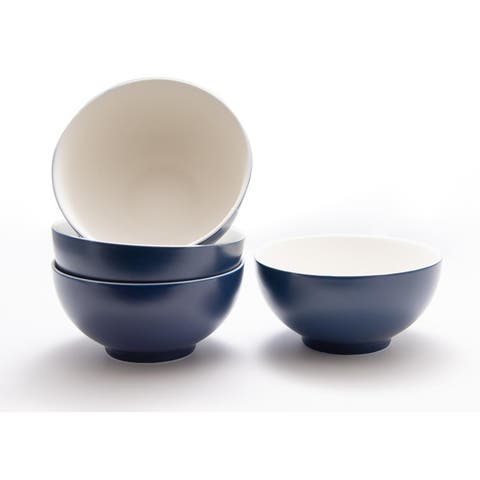Christopher Knight Collection Blue Cereal / Pasta Bowl Set of 4 - N/A