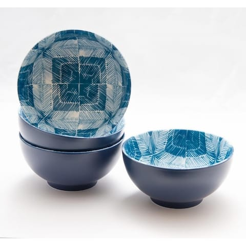 Christopher Knight Collection Horizon Blue Cereal Bowls Set of 4 - N/A