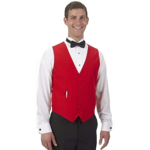 Henry Segal Men's Tailored Uniform Basic Vest, Many Colors Available