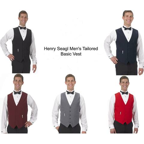 Henry Segal Men's Tailored Uniform Basic Vest, Many Colors Available