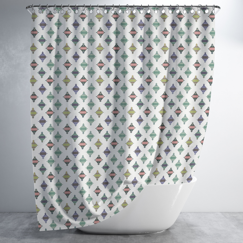 Genie Multicolored Sheets Luxury Shower Curtain By Amrita Sen