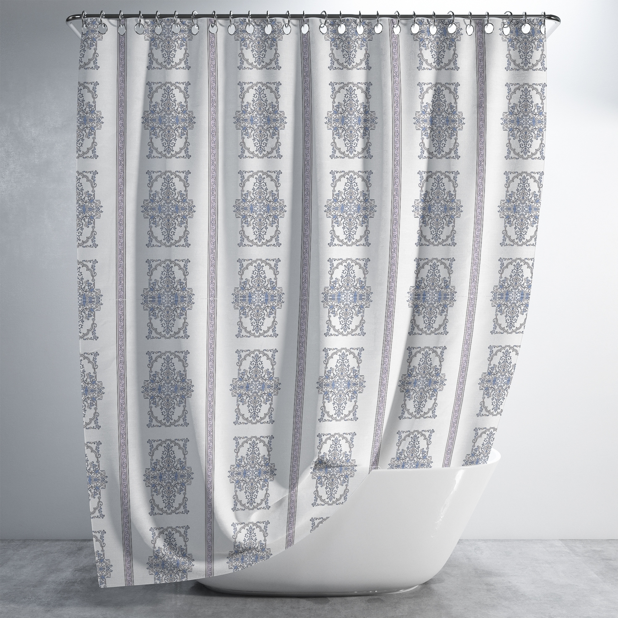 Sitting In A Harem Luxury Shower Curtain By Amrita Sen