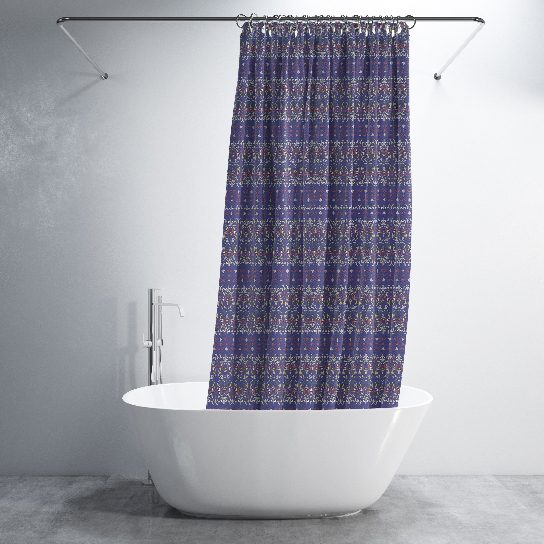 Genie Paisley Luxury Shower Curtain By Amrita Sen
