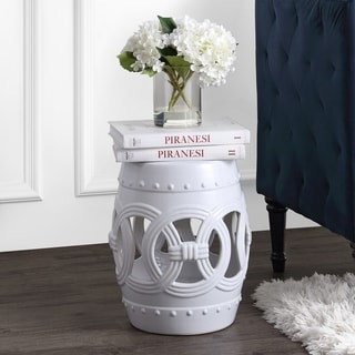 Shop Safavieh Lacey White Ceramic Decorative Garden Stool