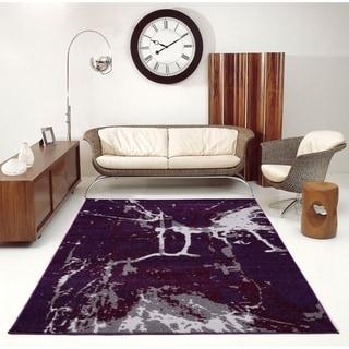 Porch & Den Westway Dark Violet Soft Abstract Area Rug