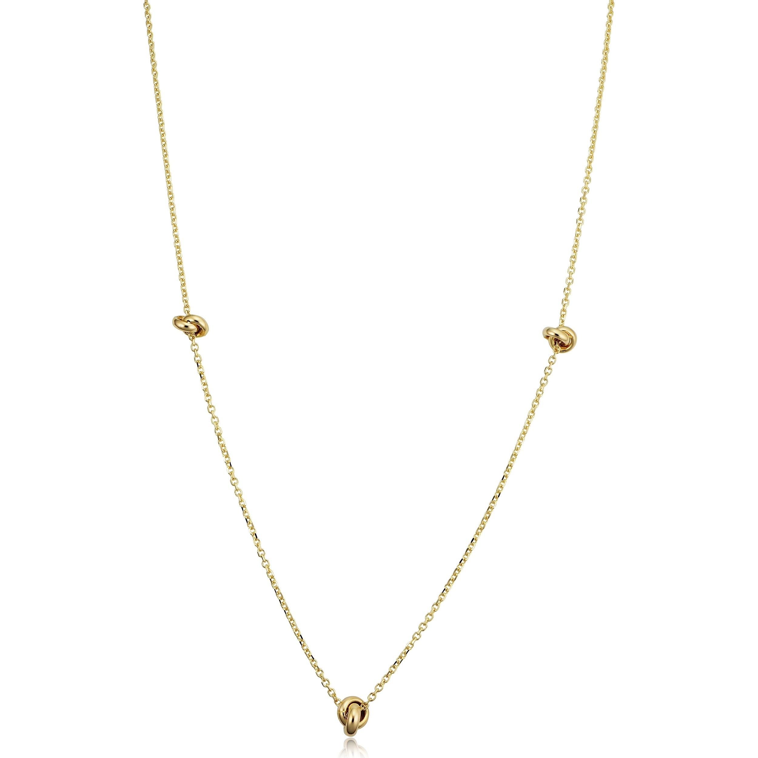 Heart Necklace 14Kt Gold Love Necklace 18 Inches