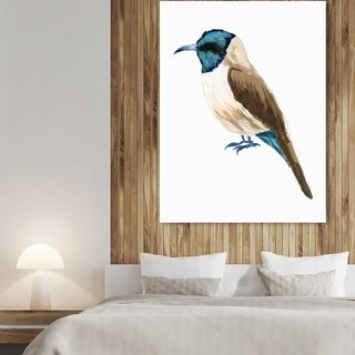 Link to Oliver Gal 'Bird Life II' Animals Wall Art Canvas Print Blue, White 24X32 (As Is Item) Similar Items in As Is