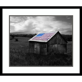 Framed Art Print 'Flags of Our Farmers XII' by James McLoughlin