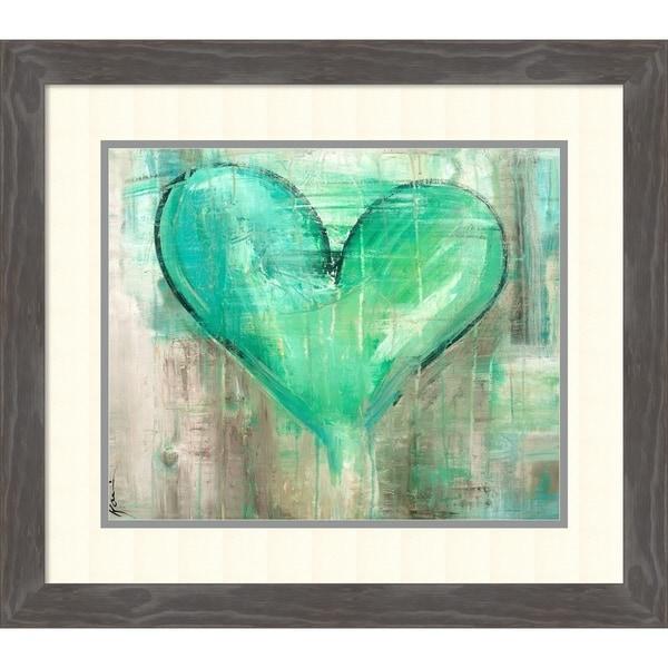 Framed Art Print 'Full Frontal Heart' by Kami Lerner