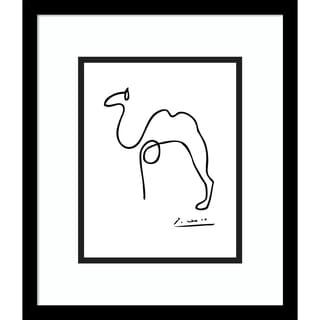 Framed Art Print 'Camel' by Pablo Picasso