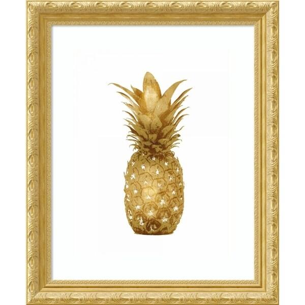 Framed Art Print 'Gold Pineapple I' by Kate Bennett